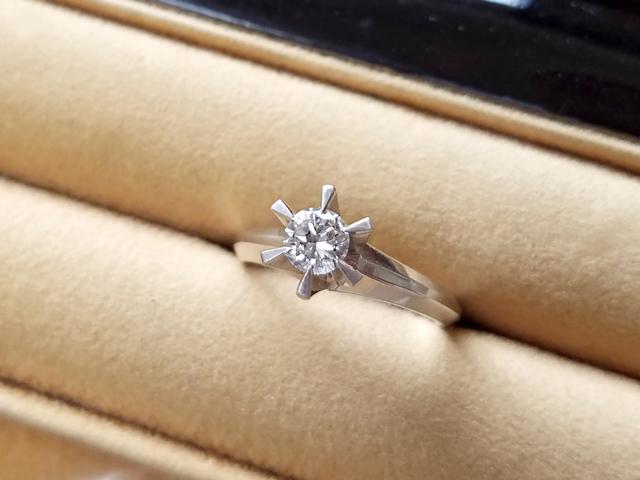 叔母様の形見である複数のダイヤモンドをリングやプチネックレスにリフォーム 【1887】