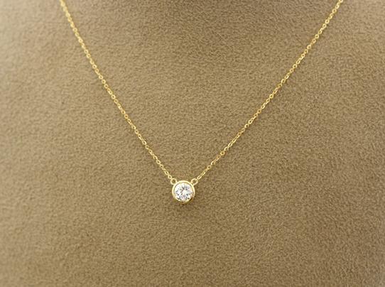 昔購入したダイヤモンドプチネックレスをティファニー風ネックレスにリフォーム 【2003b】