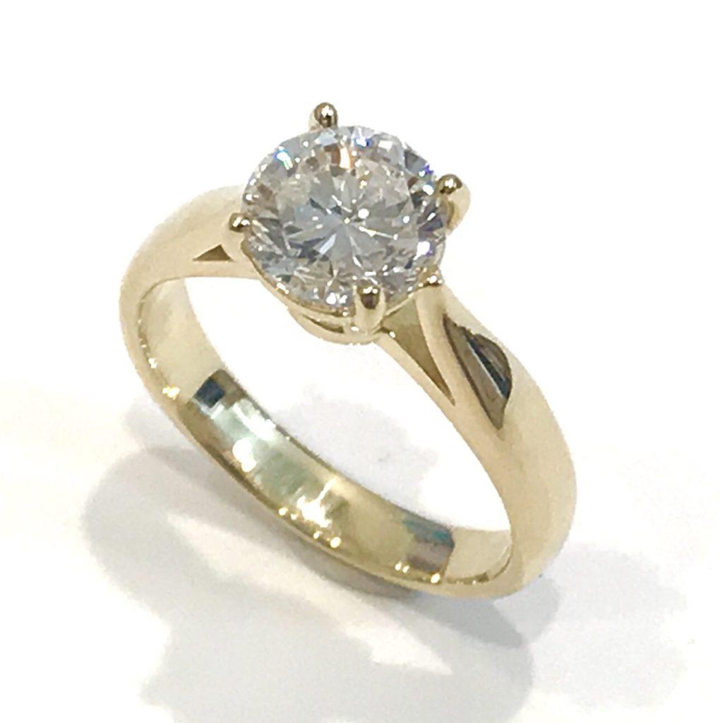お父様から譲られた印大リングをダイヤの美しさ際立つリングにリフォーム【2099】