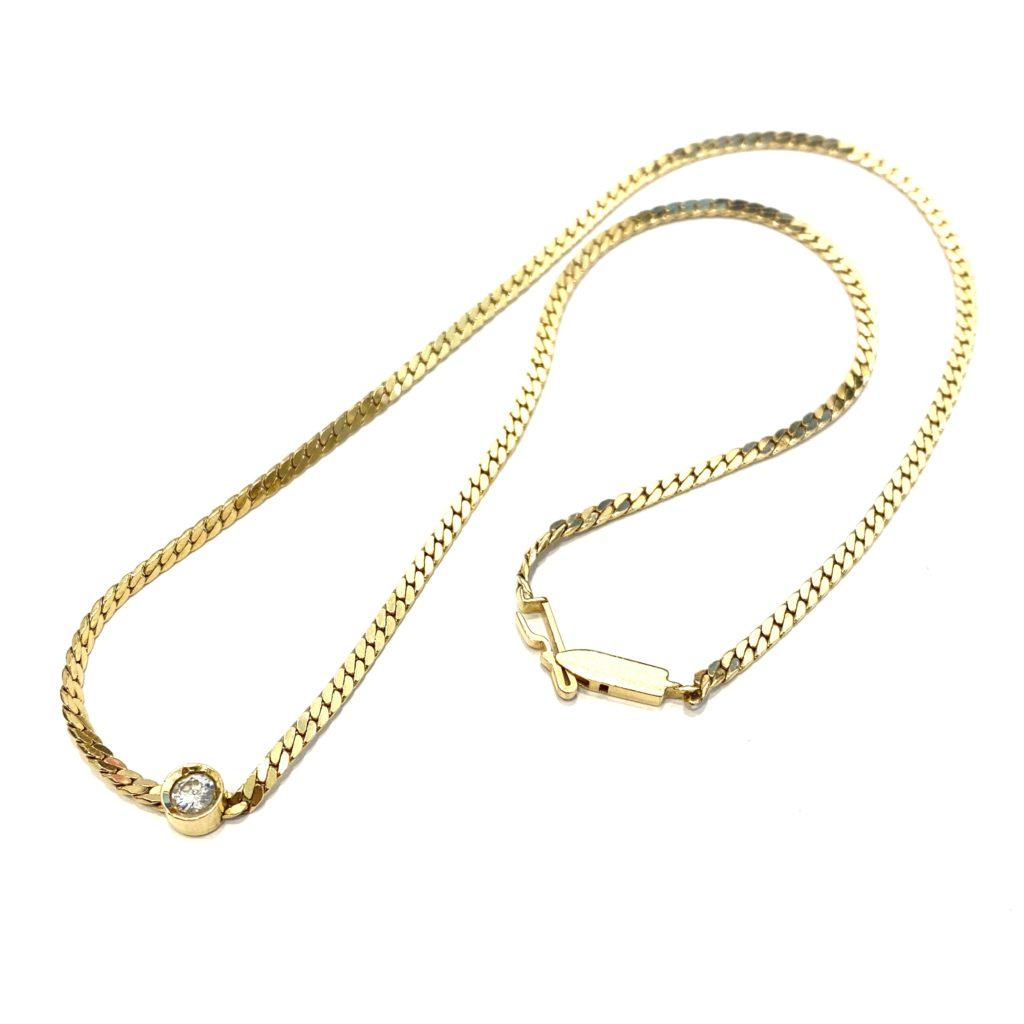 古いデザインのネックレスを華やかなペンダントにリフォーム【2109b】