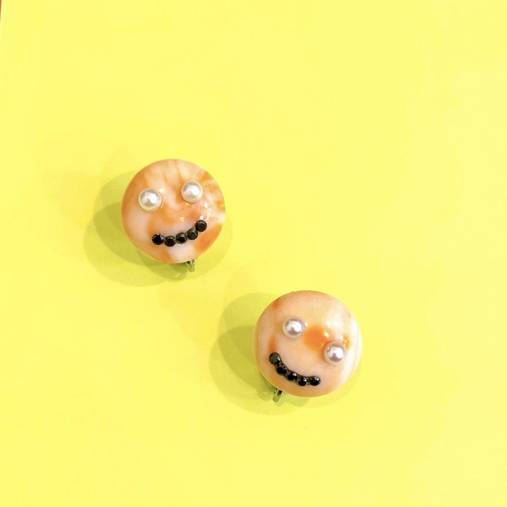 お母様の形見 珊瑚のイヤリング【2135】