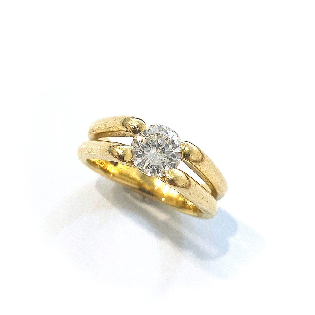 お母様からの譲り受けたダイヤモンドをハワイアンジュエリー風にリフォーム
